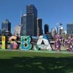Naar het strand in het centrum van Brisbane