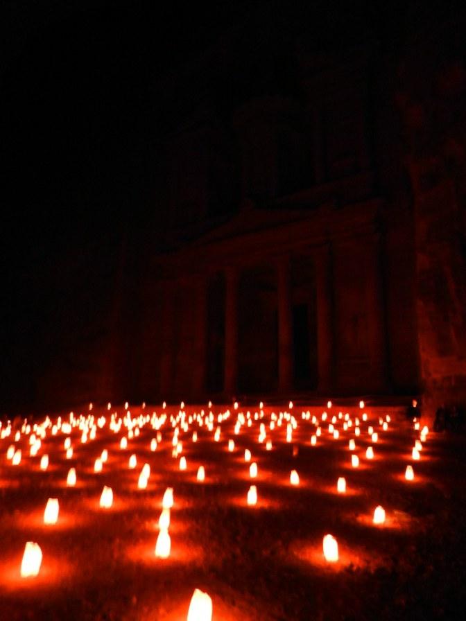 Avond bij de Schatkamer - 'Khazneh'