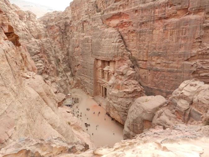 Uitzicht op de Schatkamer - 'Khazneh'