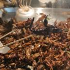 Schorpioenen en krekels? Die eet je in Bangkok op straat!
