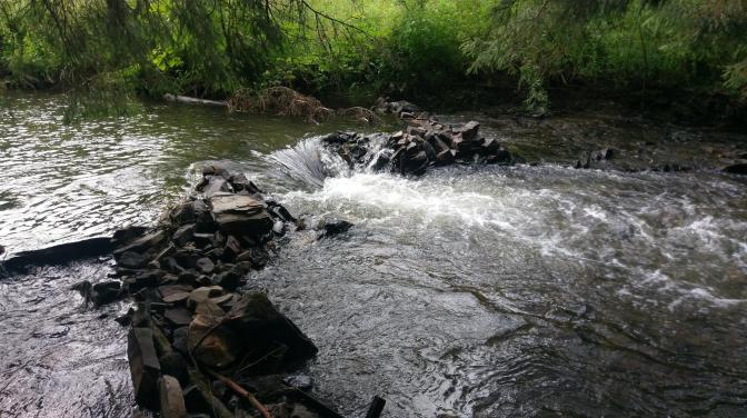 Dammen bouwen in de rivier