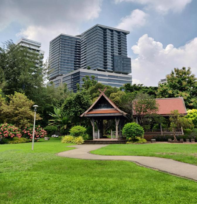 Oud en nieuw in Lumphini Park