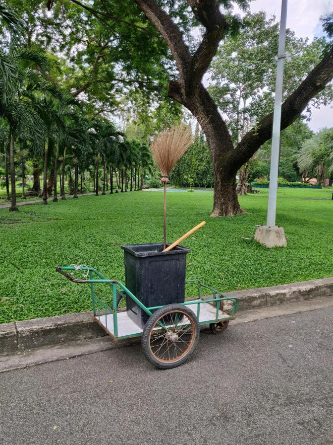 Schoon is het ook in Lumphini Park