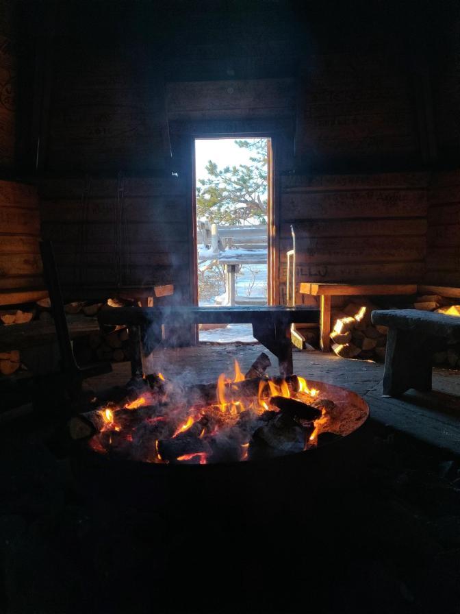 Heerlijk vuurtje om op te warmen