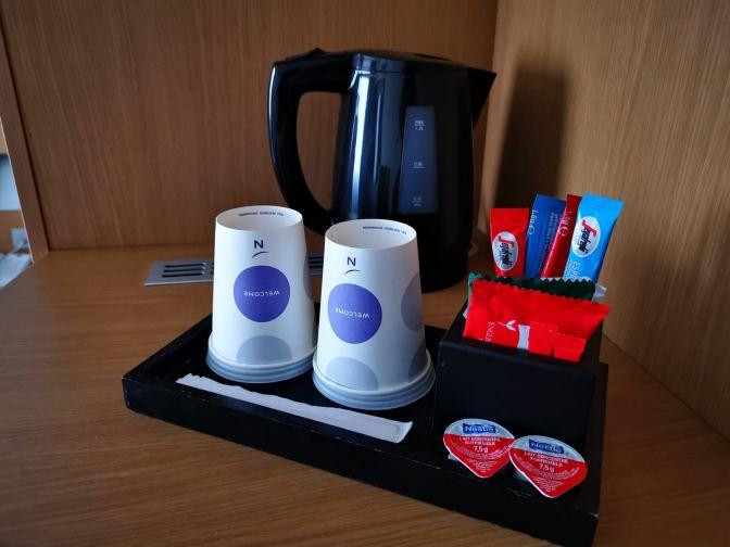 Je kunt wel lekker thee of koffie maken