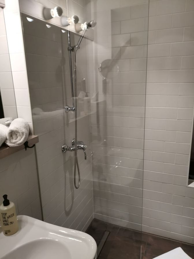 En de douche is heerlijk