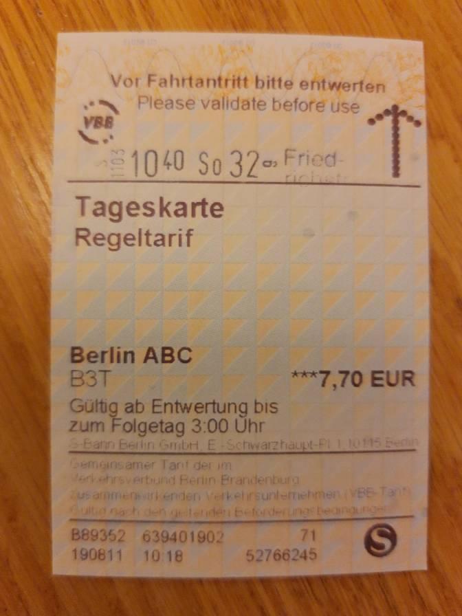 Berlijn: dagkaartje voor het OV voor een paar euro